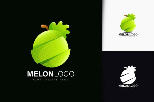 Création de logo melon avec dégradé