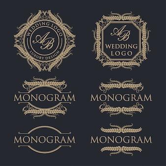 Création de logo de modèle de luxe