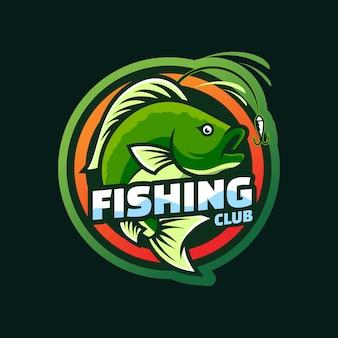 Création de logo de modèle de pêche