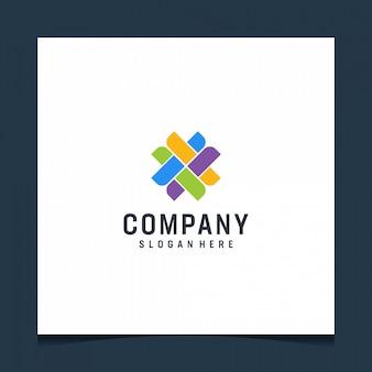 Création de logo moderne en forme abstraite