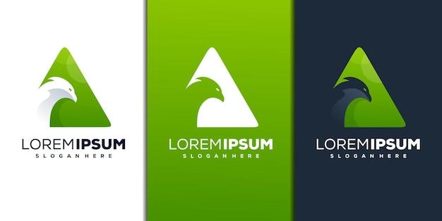 Création de logo moderne oiseau abstrait