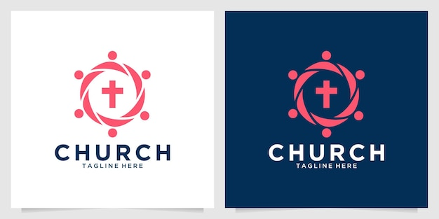Création de logo moderne pour la communauté de l'église