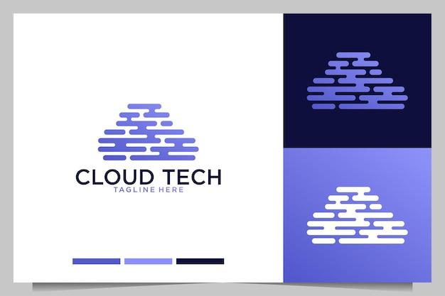 Création de logo moderne de technologie cloud