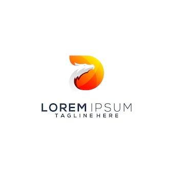 Création de logo moderne tête de dragon