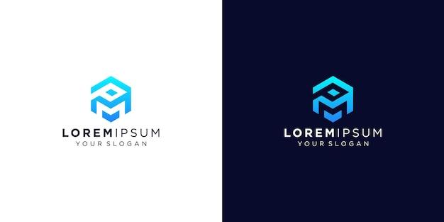 Création de logo monogramme lettre p et m