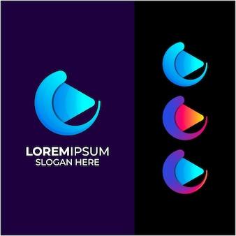 Création de logo multimédia abstrait