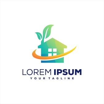 Création de logo nature maison verte
