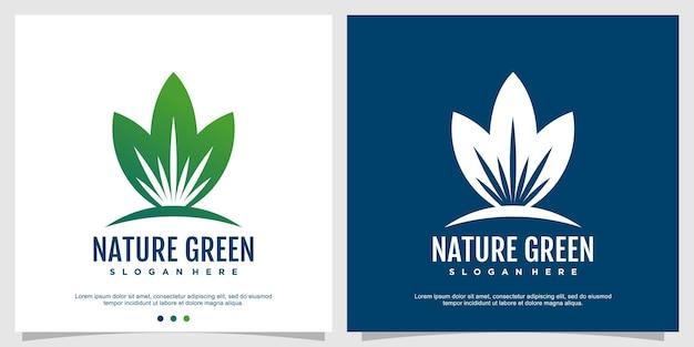 Création de logo nature avec un style abstrait moderne vecteur premium