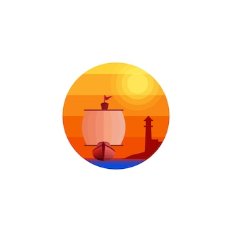 Création de logo nautique