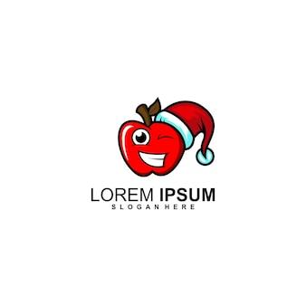 Création de logo de noël pomme