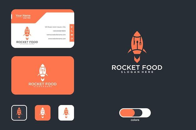 Création de logo de nourriture de fusée et carte de visite