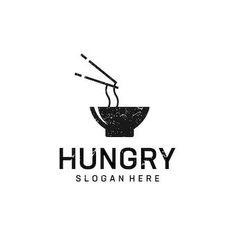 Création de logo de nourriture de nouilles.