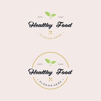 Création de logo de nourriture saine