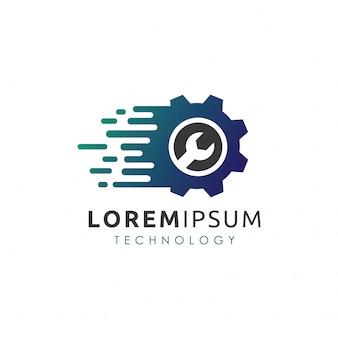 Création de logo numérique pour engrenages de service
