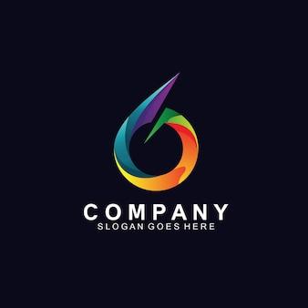 Création de logo numéro 6 coloré