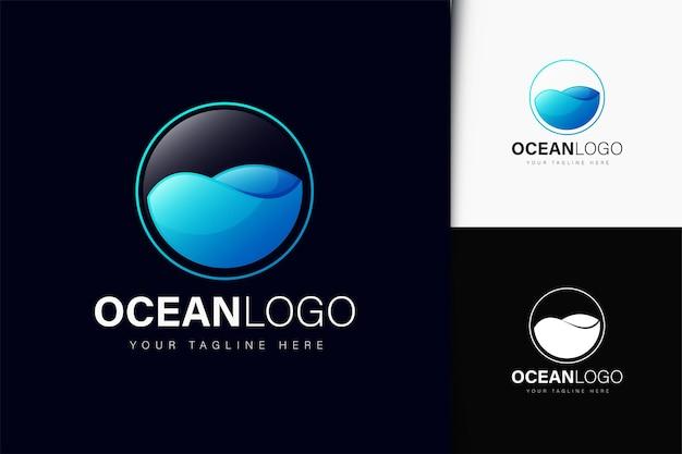 Création de logo océan avec dégradé