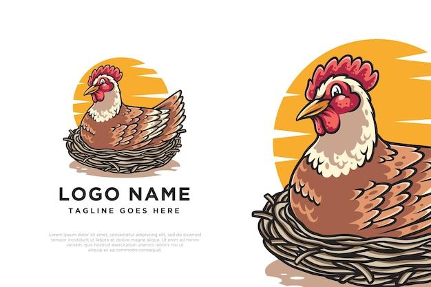 Création de logo d'oeuf de poule