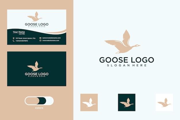 Création de logo d'oie et carte de visite