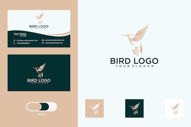Création de logo d'oiseau et carte de visite