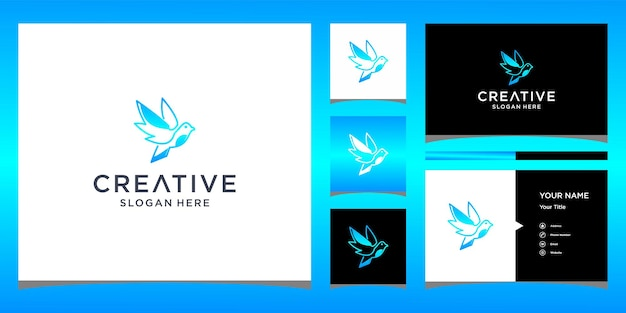 Création de logo d'oiseau avec modèle de carte de visite