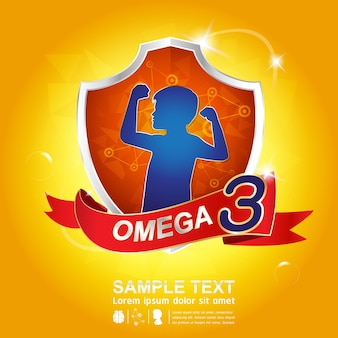 Création de logo omega 3 nutrition