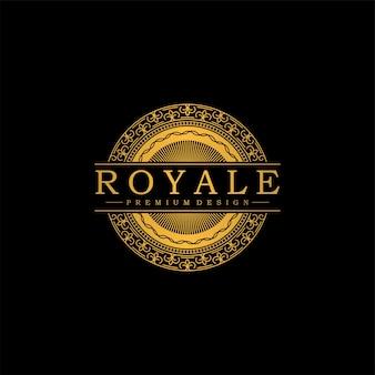 Création de logo d'ornement d'art royal de luxe