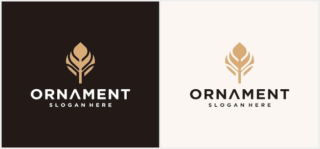 Création de logo d'ornement de fleur d'or abstrait vecteur rond floral doré icône orientale luxueuse