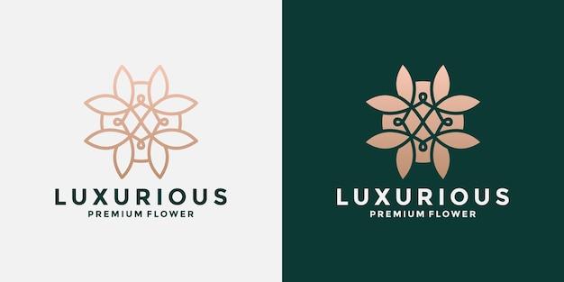 Création de logo d'ornement de lotus fleur abstraite de beauté