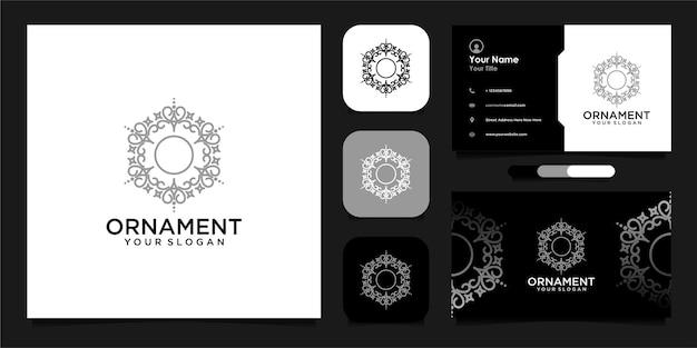 Création de logo d'ornement avec style de ligne