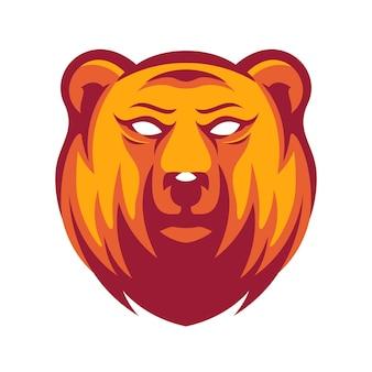 Création de logo d'ours en colère