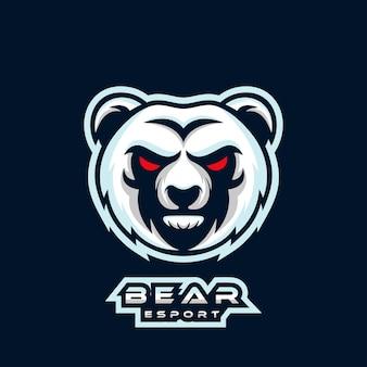 Création de logo ours esport