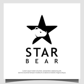 Création de logo ours étoile