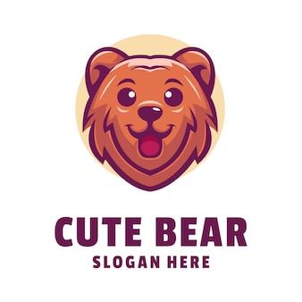Création de logo ours mignon