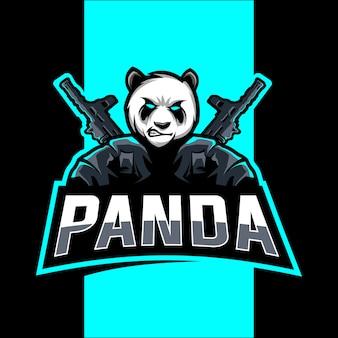 Création de logo panda mascot esport