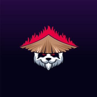 Création de logo de panda