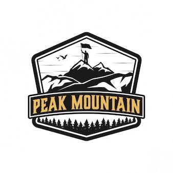 Création de logo peakmountain