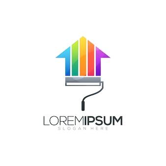 Création de logo de peinture de maison impressionnante
