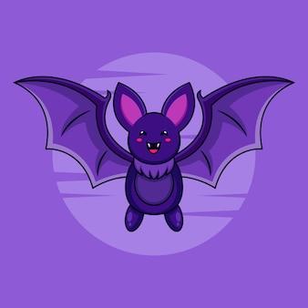 Création de logo de personnage de chauve-souris pour affiche d'halloween