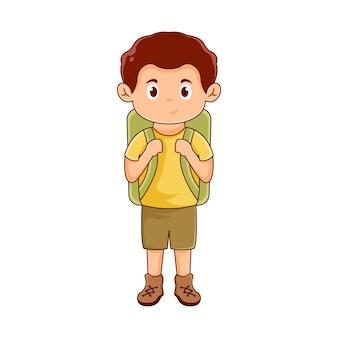 Création de logo de personnage d'escalade ou d'aventure