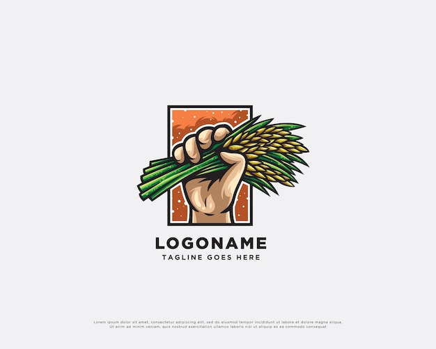 Création de logo de personnage de fermier