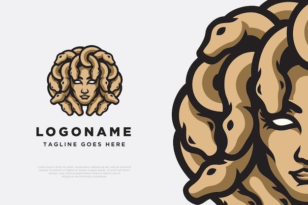 Création de logo de personnage de méduse