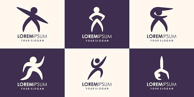 Création de logo de personnes abstraites.