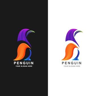 Création de logo de pingouin avec dégradé de couleur