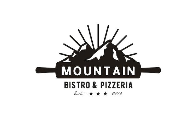 Création de logo pizza mountain