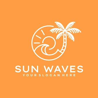 Création de logo de plage vintage simple,