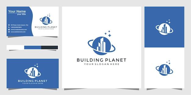 Création de logo de planète et carte de visite