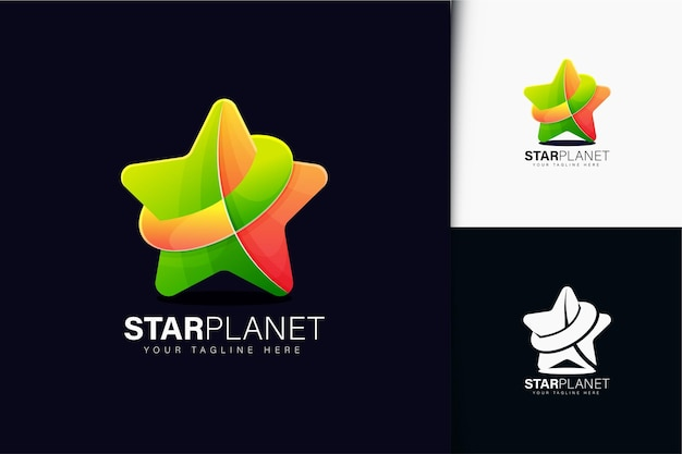 Création de logo de planète étoile avec dégradé