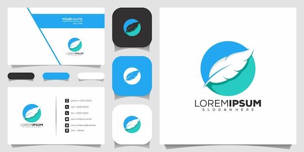 Création de logo en plumes