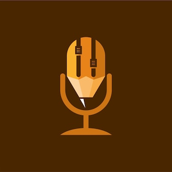 Création de logo de podcast au crayon