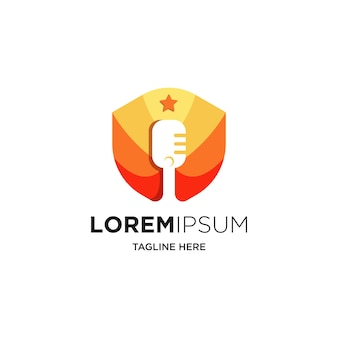 Création de logo de podcast ou radio à l'aide d'un microphone